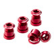 Reverse Chainring Bolt Set red